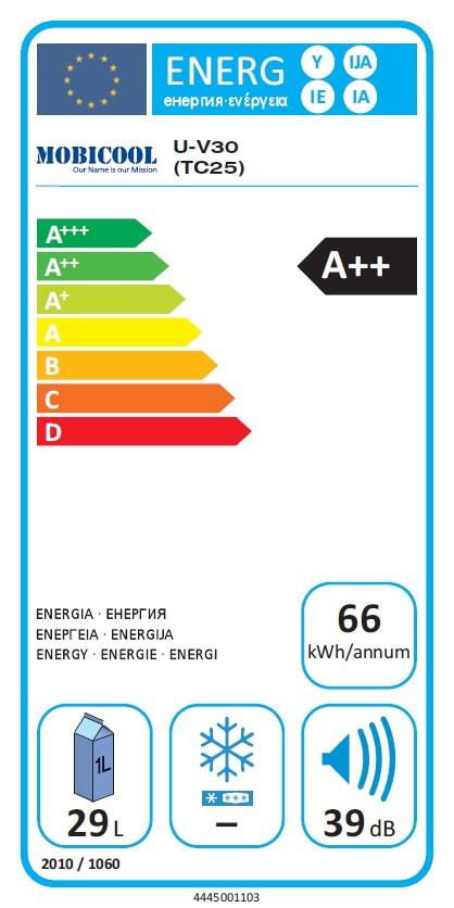 29 L Mobicool  G30 / 12 V / 230V, grau-blau/curry ..