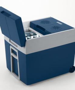 Mobicool W48 elektrische Kühlbox, Blaumetallic – 12/230 V - Bierkasten-Kühler