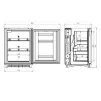 arzneimittel k hlschrank ds301hfs dometic werksverkauf. Black Bedroom Furniture Sets. Home Design Ideas