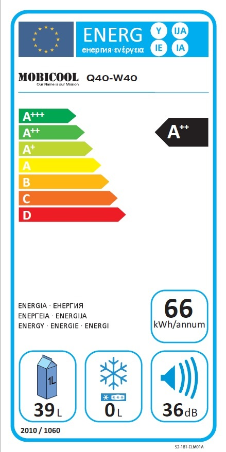 40 L Mobicool W40 blau 12-24-230 V – o.OVP