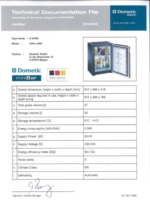 030 L Dometic miniCool Hipro 3000 Standard ..