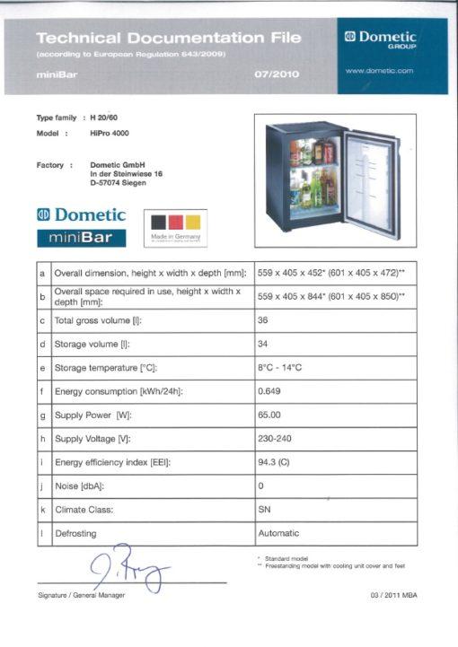 034 L Dometic miniCool Hipro 4000 RH Basic  ..