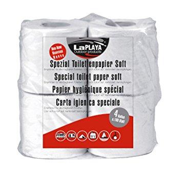 LaPlaya Spezial Toilettenpapier für Campingtoiletten / 4 Rollen