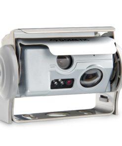 Dometic PerfectView CAM 44 NAV Doppelkamera mit Shutter, silberfarben, 140 ° diagonal