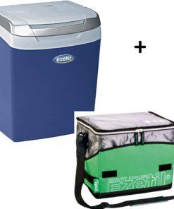 Ezetil E32 elektrische Kühlbox mit Soft-Kühltasche grün